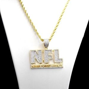 Other - NFL NEVER FORGET LOYALTY Lab Diamond Charm Chain